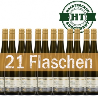 Weißwein Nahe Weingut Roland Mees Kreuznacher Rosenberg Qualitätswein halbtrocken (21 x 0, 75l) - Vorschau 1