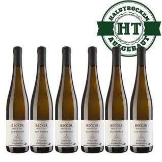 Weißwein Rheinhessen Scheurebe Weingut Becker halbtrocken ( 6 x 0, 75 l)