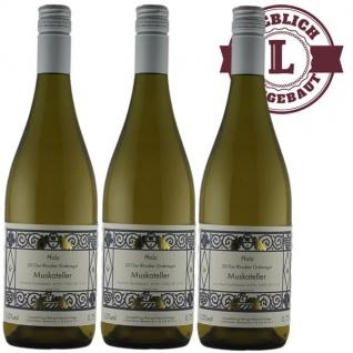 Weißwein Pfalz Muskateller Weingut Krieger Rhodter Ordensgut lieblich ( 3 x 0, 75 l)