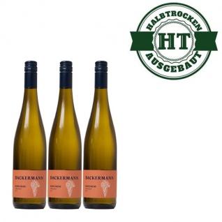Weißwein Rheinhessen Scheurebe Weingut Dackermann Gutsriesling halbtrocken (3 x 0, 75 l)