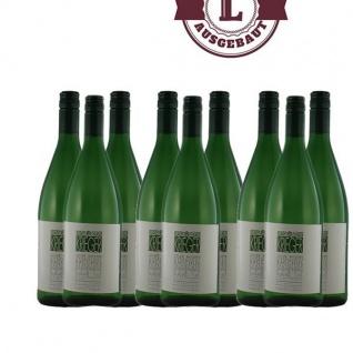 Weißwein Pfalz Bacchus Weingut Krieger Rhodter Ordensgut lieblich (9 x 1, 0 l)