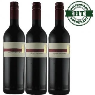 Rotwein Pfalz Dornfelder Weingut Krieger Qualitätswein halbtrocken (3 x 0, 75 l)