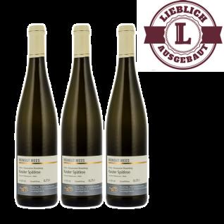 Weißwein Nahe Kanzler Weingut Roland Mees Nahe Kreuznacher Rosenberg Spätlese lieblich (3 x 0, 75l)