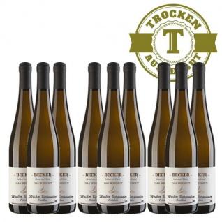 Weißwein Rheinhessen Weißer Burgunder Weingut Becker trocken ( 9 x 0, 75 l)