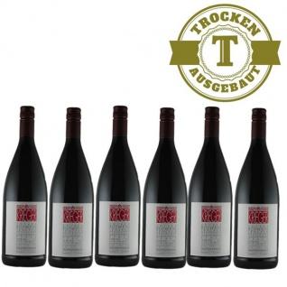 Rotwein Pfalz Qualitätswein Weingut Krieger trocken (6 x 1, 0L)