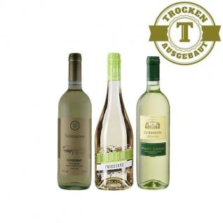 Weißwein Probierpaket mini2 Italien trocken (3x0, 75l)