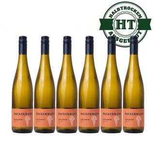 Weißwein Rheinhessen Kerner Weingut Dackermann Gutswein halbtrocken ( 6 x 0, 75 l)