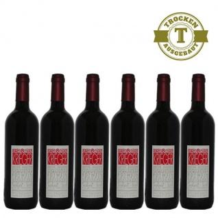 Rotwein Pfalz Dornfelder Weingut Krieger Qualitätswein trocken (6 x 0, 75 l)