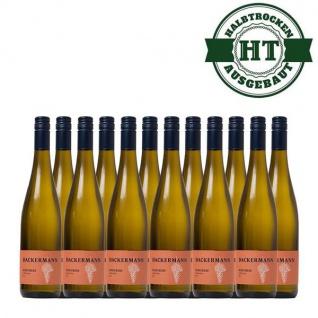 Weißwein Rheinhessen Scheurebe Weingut Dackermann Gutsriesling halbtrocken (12 x 0, 75 l)