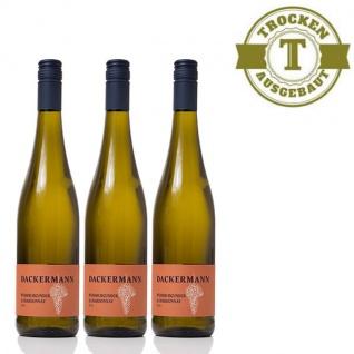 Weißwein Rheinhessen Chardonnay & Weißburgunder Weingut Dackermann Gutswein trocken ( 3 x 0, 75 l)