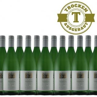 Weißwein Pfalz Weißburgunder Weingut Krieger Rhodter Ordensgut trocken (12 x 1, 0L )