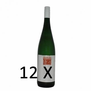 Weißwein Pfalz Rivaner Weingut Krieger Rhodter Schloßberg Kabinett feinherb (12 x 0, 75l)
