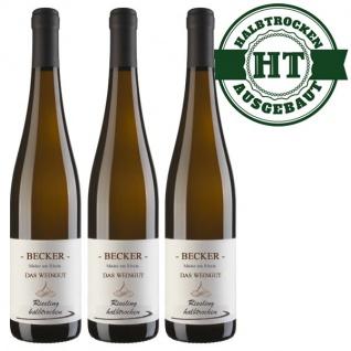 Weißwein Rheinhessen Riesling Weingut Becker halbtrocken ( 3 x 0, 75 l)