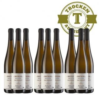 Weißwein Rheinhessen Scheurebe Weingut Becker trocken ( 9 x 0, 75 l)