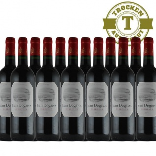 Rotwein Frankreich Vin de Bordeaux Jean Degaves trocken - 12x0, 75L