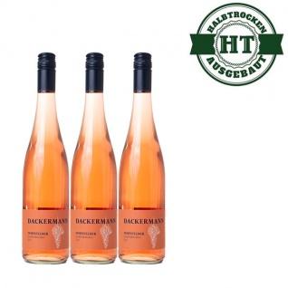 Rosé Rheinhessen Dornfelder Weingut Dackermann Gutswein halbtrocken ( 3 x 0, 75l)