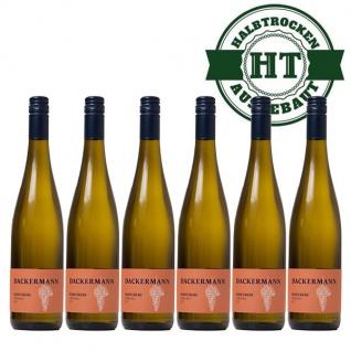 Weißwein Rheinhessen Scheurebe Weingut Dackermann Gutsriesling halbtrocken (6 x 0, 75 l) - Vorschau