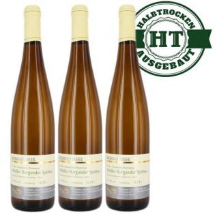 Weißwein Nahe Weißer Burgunder Weingut Roland Mees Nahe Kreuznacher Rosenberg Spätlese feinherb (3 x 0, 75l)