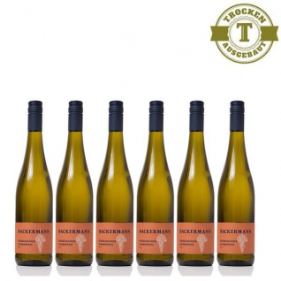 Weißwein Rheinhessen Chardonnay & Weißburgunder Weingut Dackermann Gutswein trocken ( 6 x 0, 75 l)