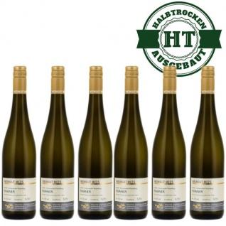 Weißwein Nahe Rivaner Weingut Roland Mees Kreuznacher Rosenberg Qualitätswein halbtrocken (6 x 0, 75l)
