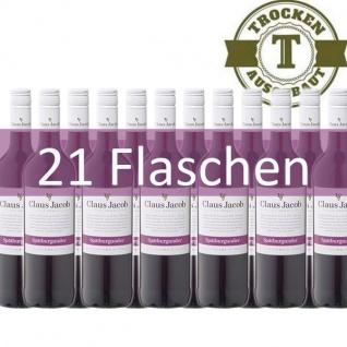 Rotwein Pfalz Spätburgunder Claus Jacob trocken (21 x 0, 75 l)