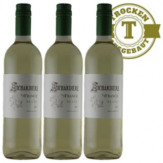 Weißwein Frankreich Vin de France trocken (3 x 0, 75l)