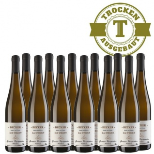 Weißwein Rheinhessen Grauer Burgunder Weingut Becker trocken (12 x 0, 75 l)