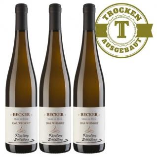 Weißwein Rheinhessen Riesling Weingut Becker Schloßberg trocken ( 3 x 0, 75 l)