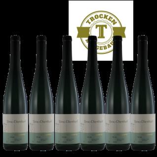 Weißwein Mosel Weingut Römerkelter Riesling Titan Qualitätswein trocken ( 6 x 0, 75 l )
