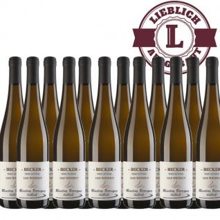 Weißwein Rheinhessen Riesling Weingut Becker Spätlese Barrique lieblich (12 x 0, 75 l)
