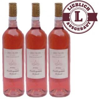 Rosé Rheinhessen Frühburgunder Weißherbst Weingut Becker lieblich (3 x 0, 75l)