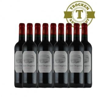Rotwein Frankreich Vin de Bordeaux Jean Degaves trocken - 9x0, 75L