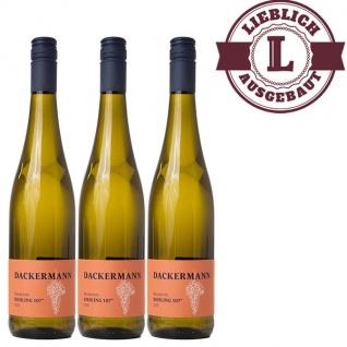 Weißwein Rheinhessen Riesling Auslese Weingut Dackermann 107° lieblich ( 3 x 0, 75 l)