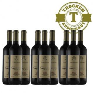 Rotwein Italien Merlot trocken (9 x 0, 75l)