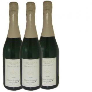 Winzersekt Weingut Marco Becker Rheinhessen Weißer Burgunder brut (3 x 0, 75 l )