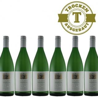 Weißwein Pfalz Weißburgunder Weingut Krieger Rhodter Ordensgut trocken (6 x 1, 0L )