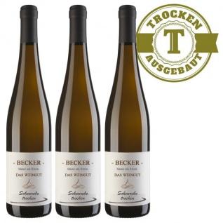 Weißwein Rheinhessen Scheurebe Weingut Becker trocken ( 3 x 0, 75 l)