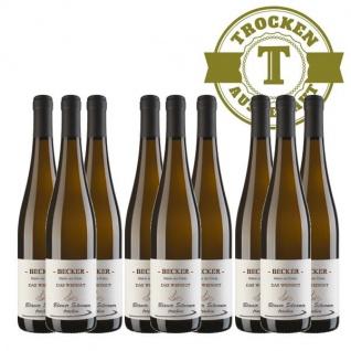 Weißwein Rheinhessen Silvaner Weingut Becker trocken ( 9 x 0, 75 l)