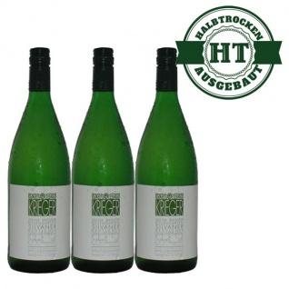 Weißwein Pfalz Silvaner Weingut Krieger feinherb (3 x 1, 0 l)