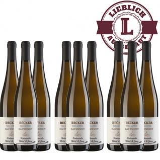 Weißwein Rheinhessen Scheurebe Weingut Becker lieblich (9 x 0, 75 l)
