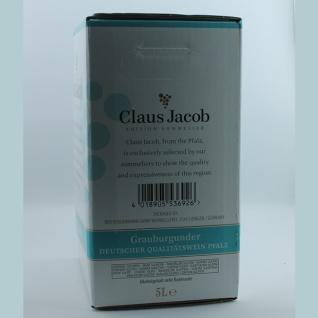 Weißwein Pfalz Grauburgunder Claus Jacob Edition Sommelier Bag in Box trocken (2x5, 0L) - Vorschau 2