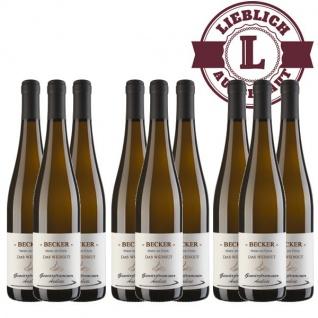 Weißwein Rheinhessen Gewürztraminer Weingut Becker Auslese lieblich ( 9 x 0, 75 l)