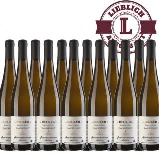 Weißwein Rheinhessen Gewürztraminer Weingut Becker Auslese lieblich (12 x 0, 75 l)