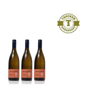 Weißwein Rheinhessen Chardonnay Weingut Dackermann trocken (3 x 0, 75 l)