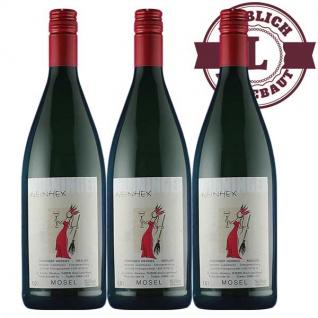 Weißwein Mosel Riesling Weingut Horst Sünner Winninger Weinhex Qualitätswein mild ( 3 x 1, 0 l )