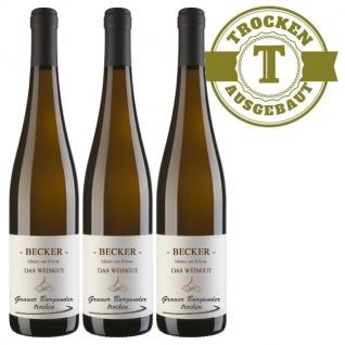 Weißwein Rheinhessen Grauer Burgunder Weingut Becker trocken ( 3 x 0, 75 l)