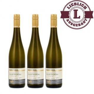 Weißwein Rheinhessen Müller Thurgau Weingut Roland Mees Nahe Kreuznacher Rosenberg Qualitätswein lieblich (3 x 0, 75l)