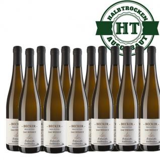 Weißwein Rheinhessen Scheurebe Weingut Becker halbtrocken (12 x 0, 75 l)
