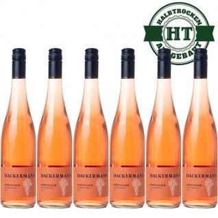 Rosé Rheinhessen Dornfelder Weingut Dackermann Gutswein halbtrocken ( 6 x 0, 75l)
