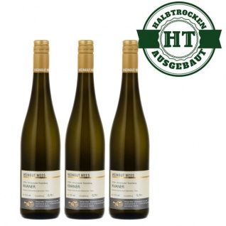 Weißwein Nahe Rivaner Weingut Roland Mees Kreuznacher Rosenberg Qualitätswein halbtrocken (3 x 0, 75l)